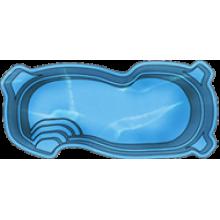 Стекловолоконый бассейн Голубая лагуна 7,50х3,50х1,20-1,60